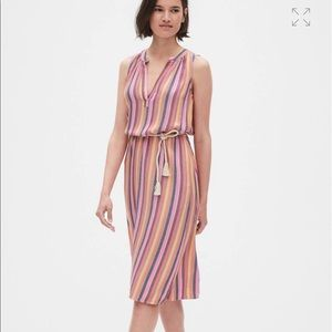NWT Gap Striped Sleeveless Dress Large Petite